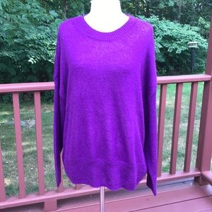 NWT! Torrid 2X grape L/S pullover sweater .